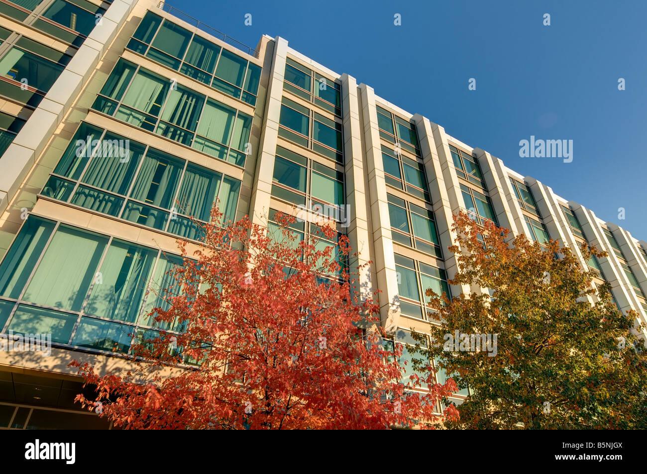 HDR-Blick auf 68 Gebäude auf dem Campus des Massachusetts Institute of Technology in Cambridge MA wie auf 10 Stockbild