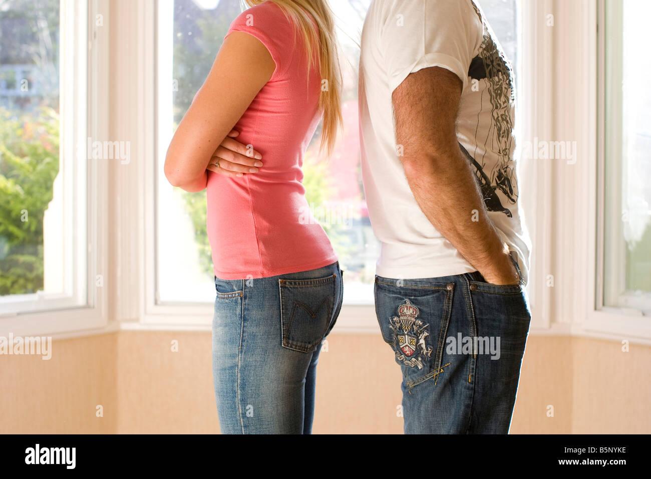 Paar im Streit Stockbild