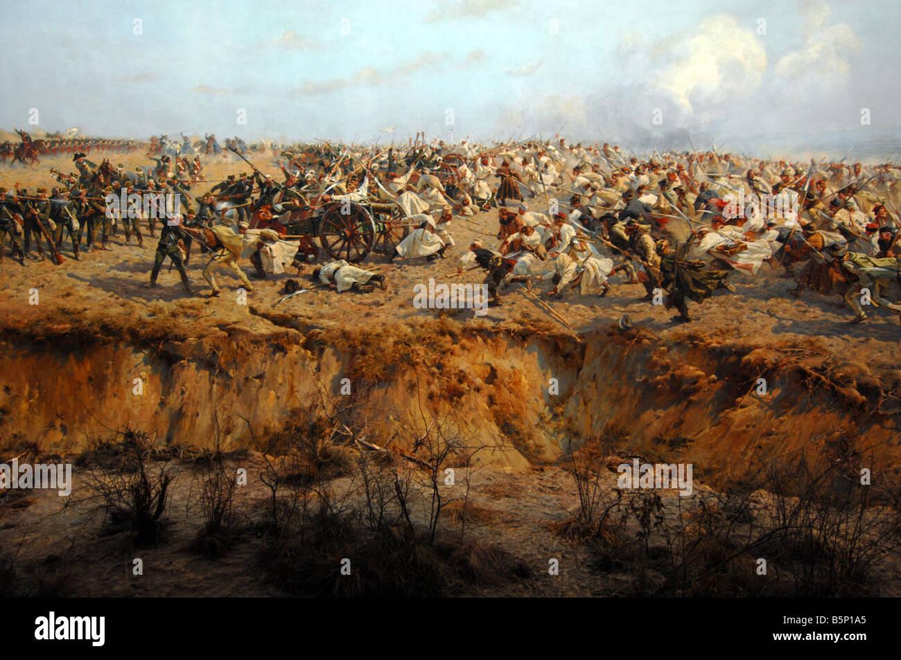Raclawice Panorama oder Panorama Raclawicka, Panorama-Gemälde, Wroclaw, Polen Stockbild