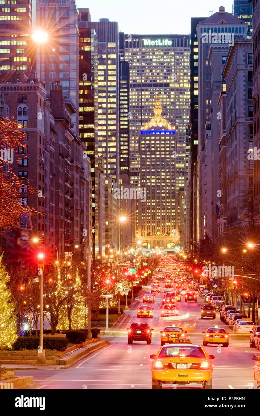 Park Avenue Verkehr New York Street Stockbild
