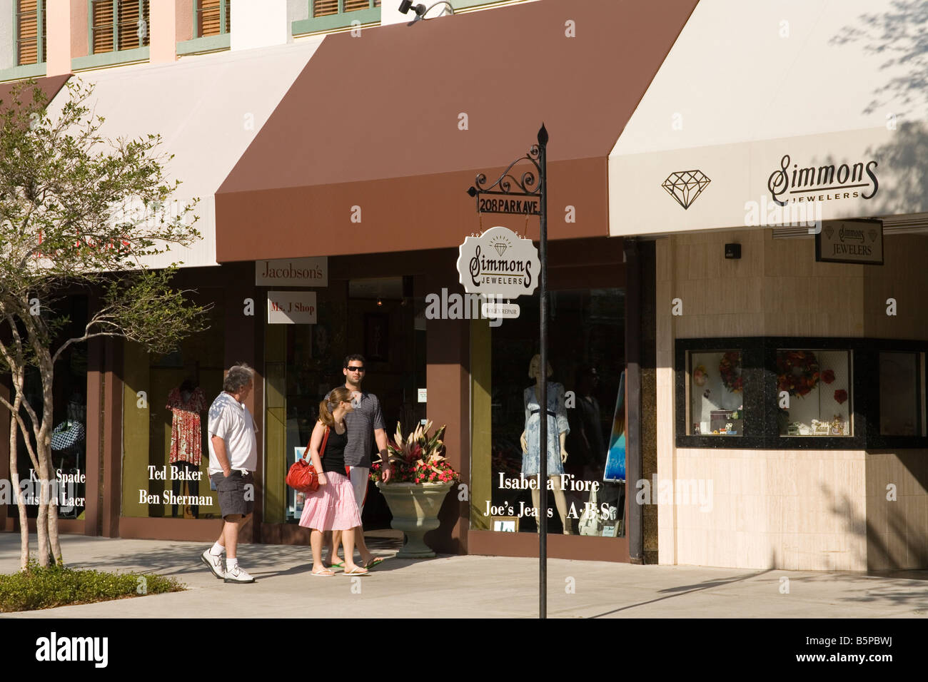 Park Avenue Winter Park Stadt Orlando Florida USA Stockfoto