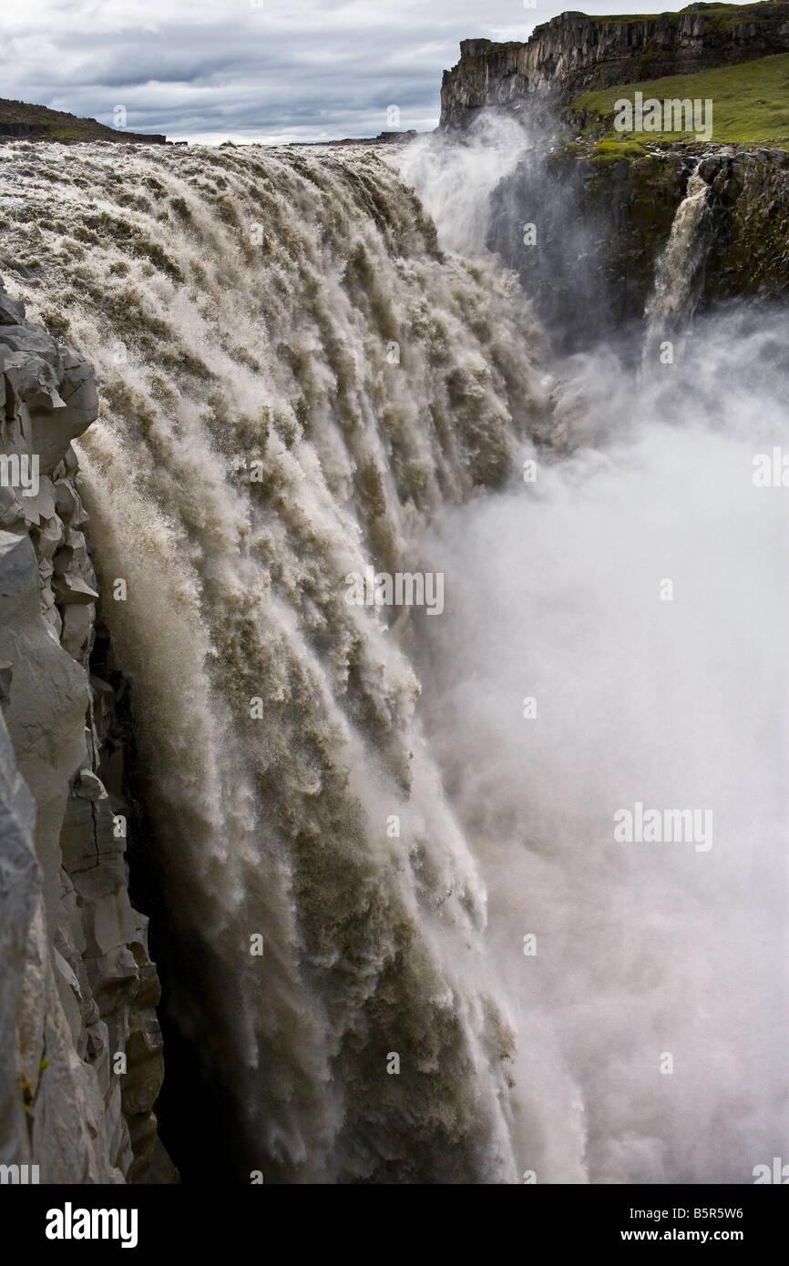 Dettifoss Wasserfälle Islands Stockbild
