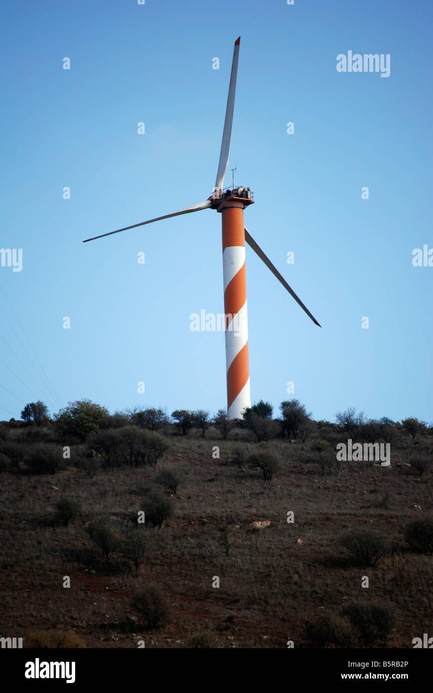 Israel Golanhöhen Windgenerator Stockbild