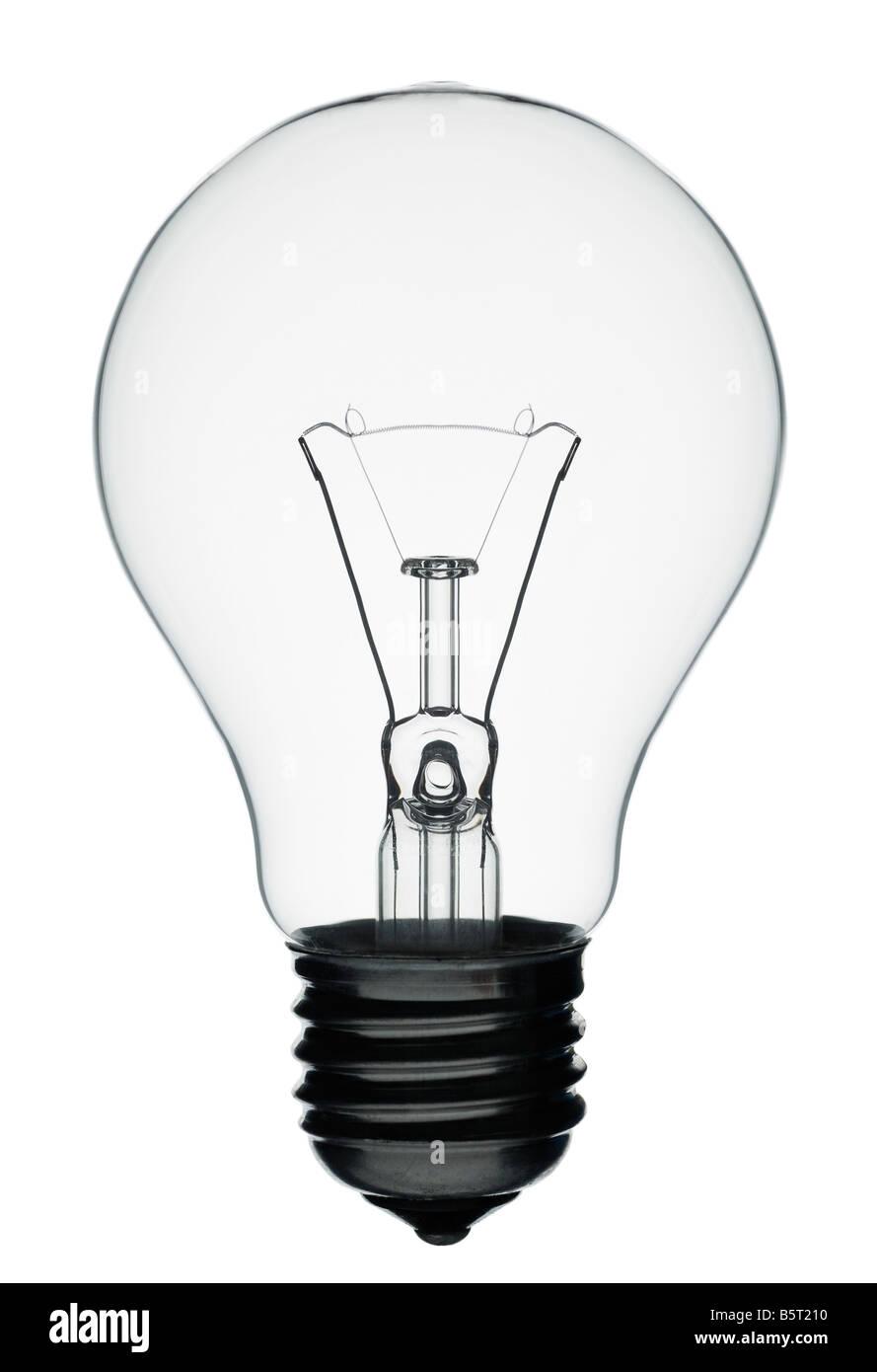 Glühbirne, Nahaufnahme. Stockbild