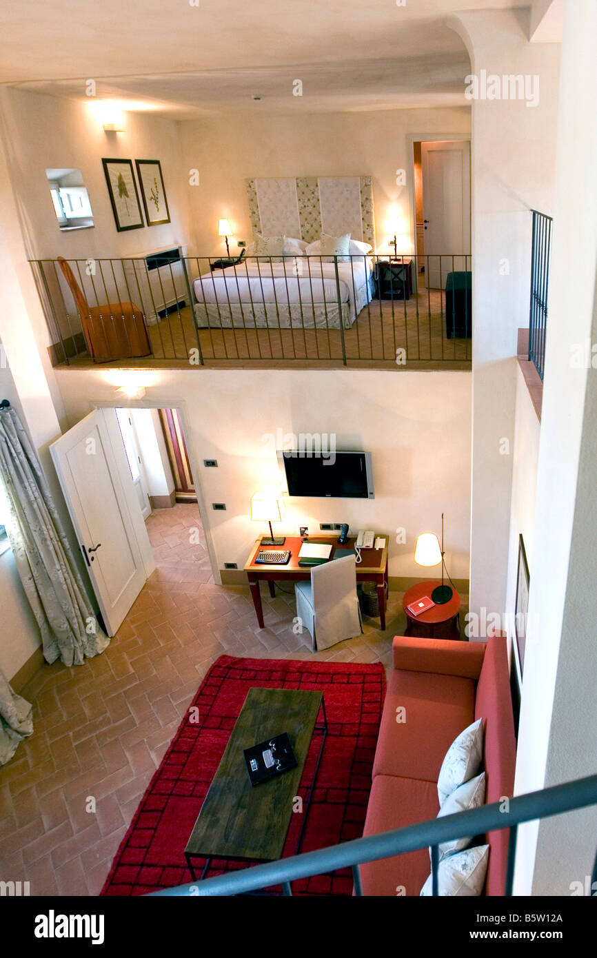 Schlafzimmer Castello Del Nero Hotel Tavarnelle Toskana Italien ...