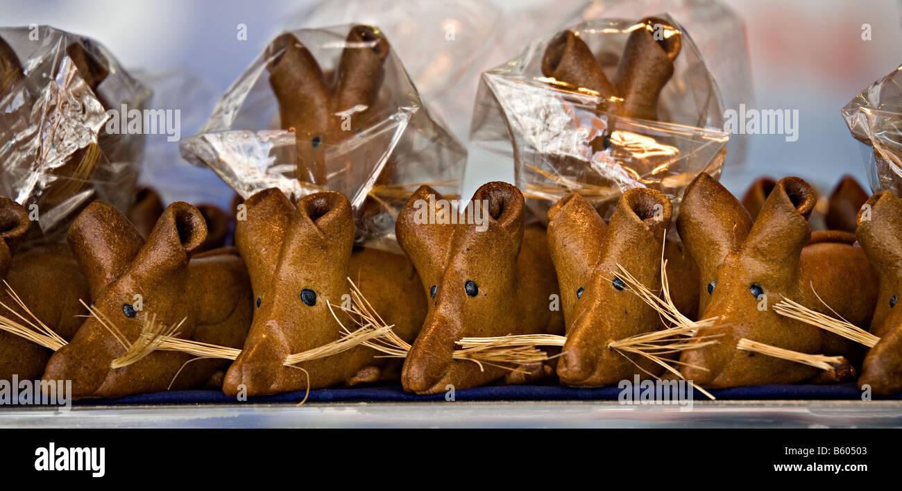 Essbare Gebäck Ratten auf Verkauf Hameln Deutschland Stockbild
