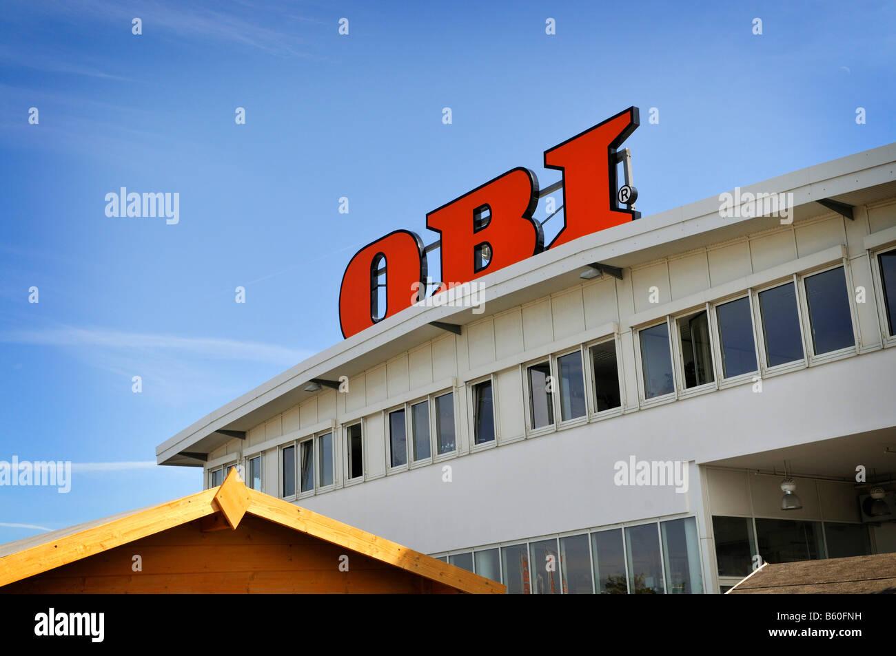 Obi Baumarkt In Der Nähe Von München Bayern Logo Stockfoto Bild