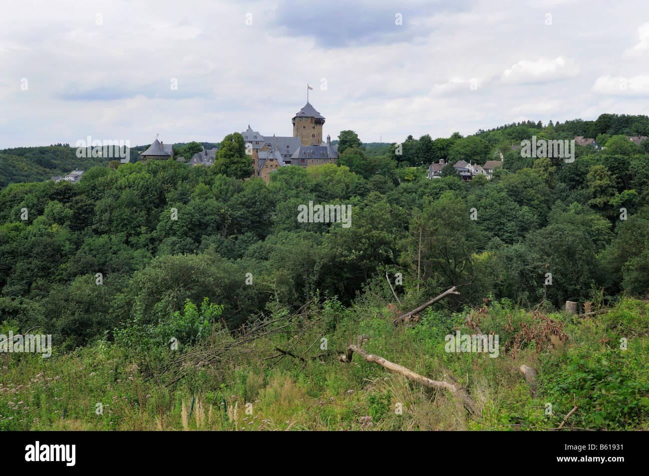 Ansicht der Burg Burg Burg eine der Wupper, Solingen, Nordrhein-Westfalen Stockbild