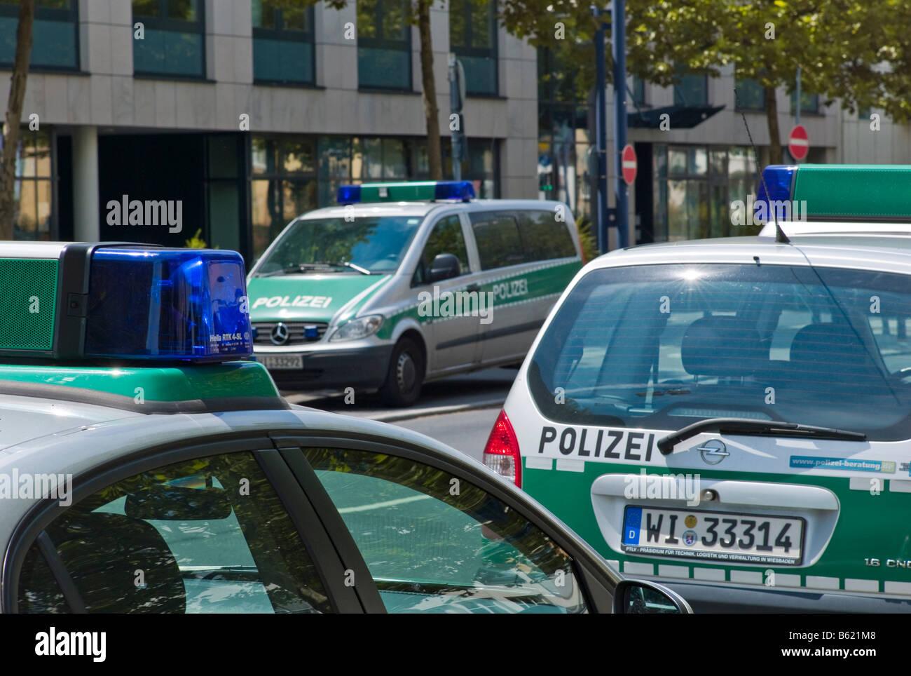 Polizei Autos, Deutschland, Europa Stockbild