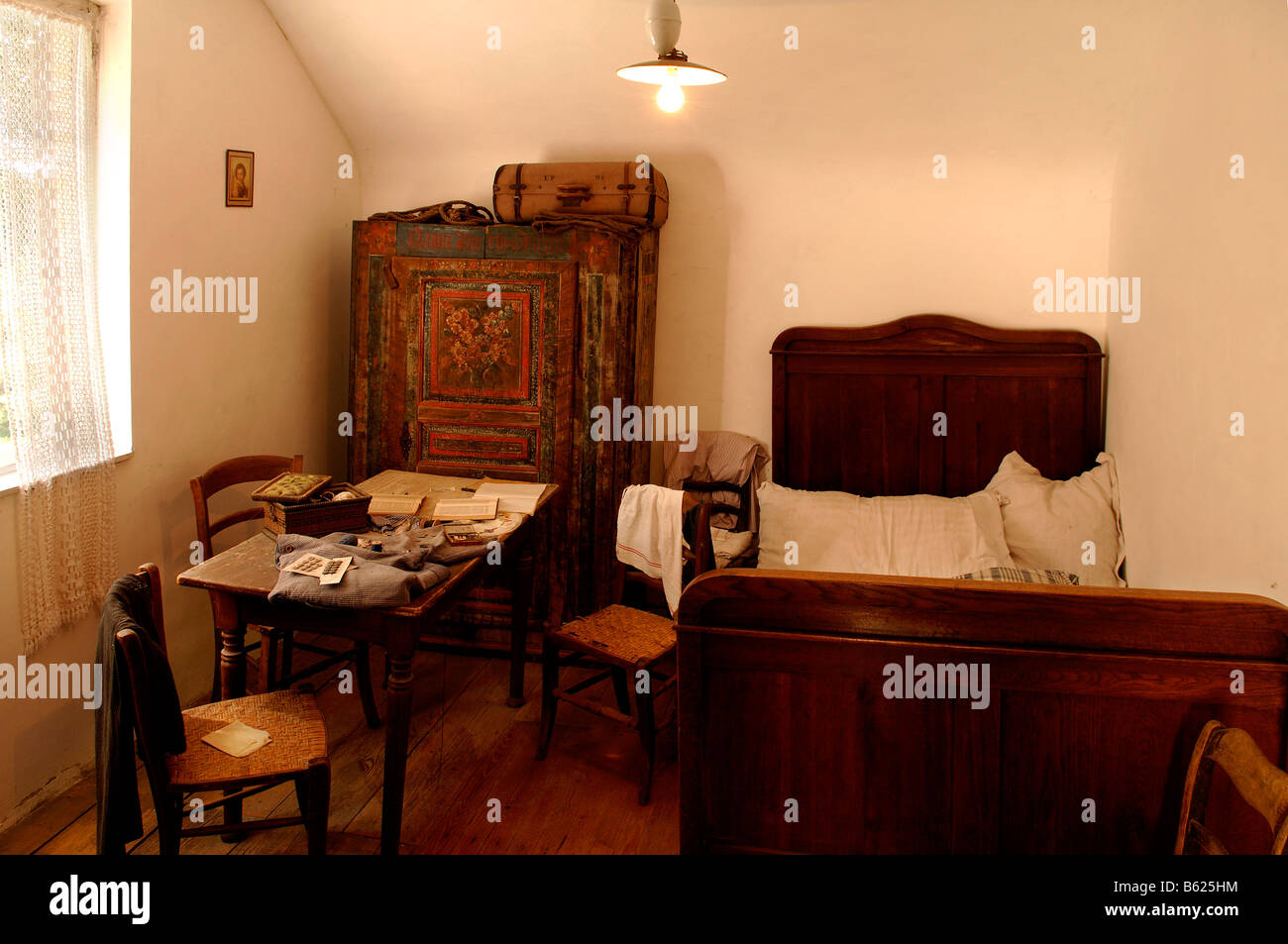 Schlafzimmer In Einem Elsassischen Bauernhaus Um 1900 Eco Museum