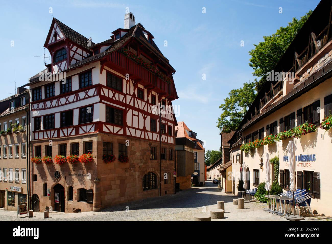Dürer-Haus, Platz am Eingang des Zoos, historischen Stadt Zentrum, Nürnberg, Middle Franconia, Bayern, Stockbild