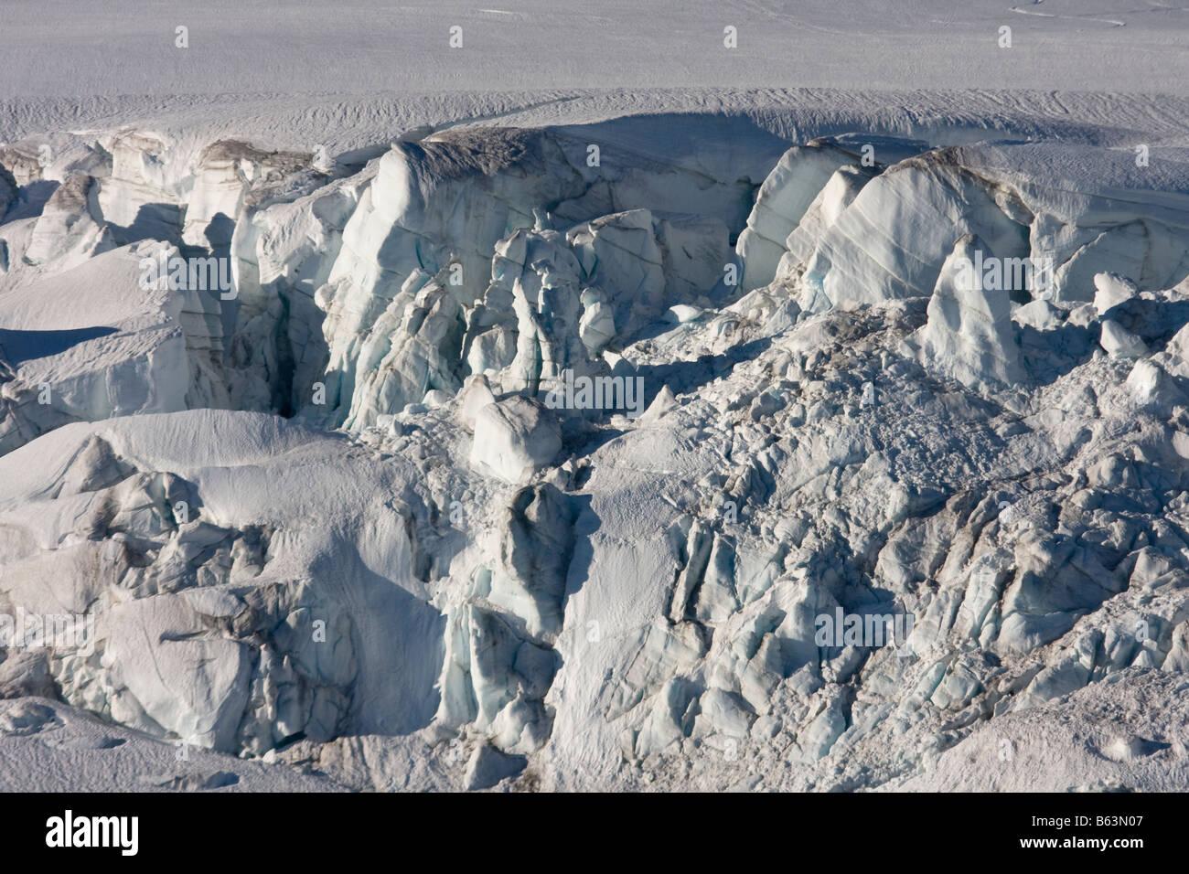 Eine Eisbruch auf Easton Gletscher des Mount Baker im Mount Baker Recreation Gebiet North Cascades Washington Stockbild