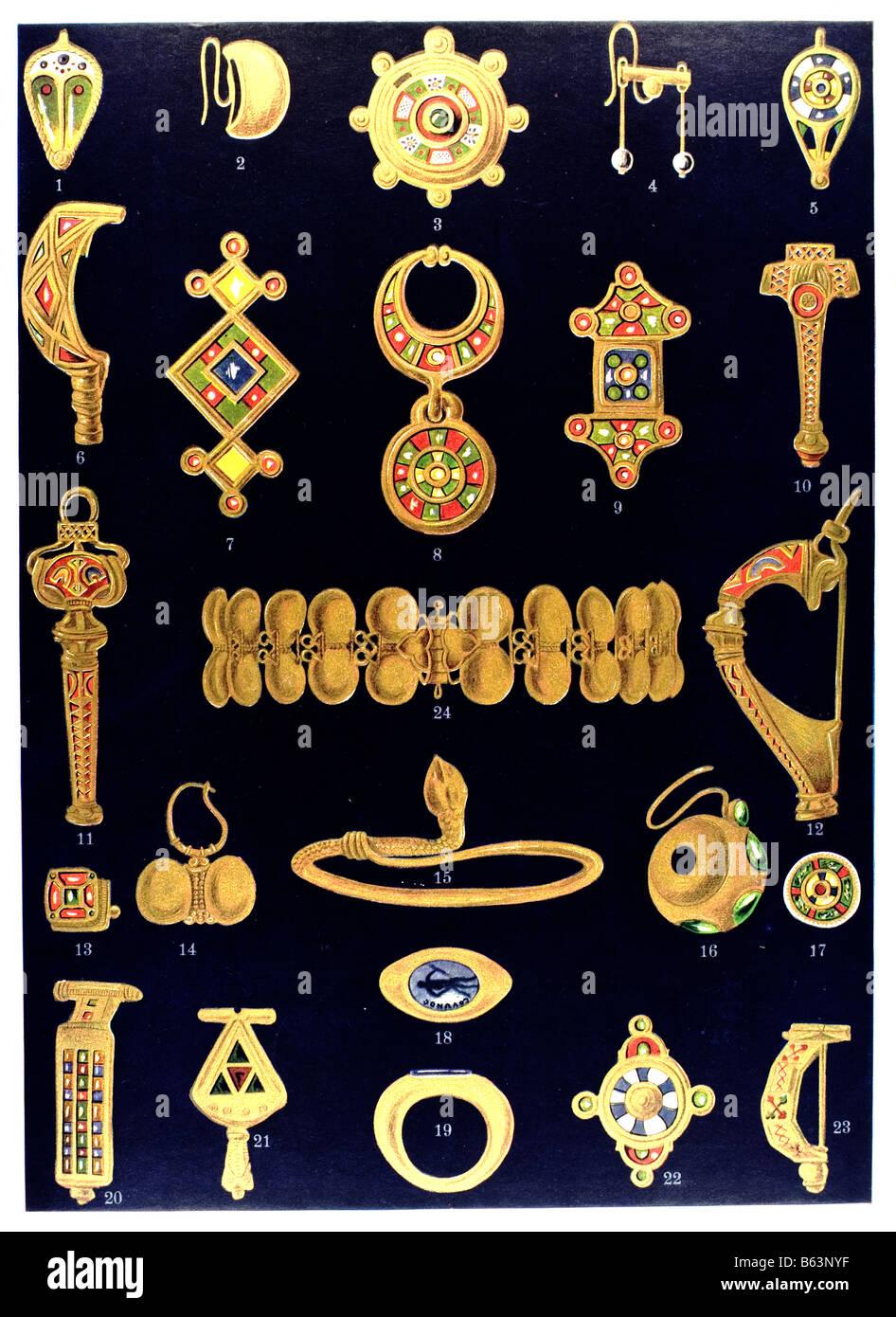 Die römischen Ornament römischen Gold und Emaille Schmuck