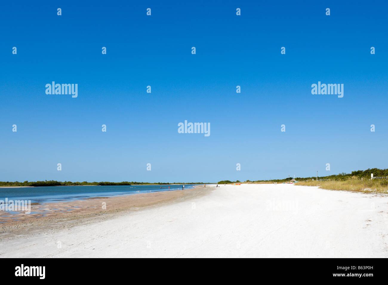 Tigertail Beach, Marco Island, Golf-Küste, Süd-Florida, USA Stockbild