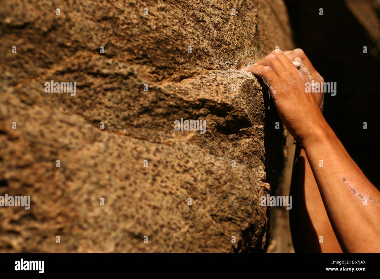 Klettern Hände Stockbild