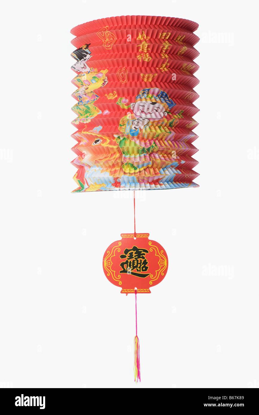 Nahaufnahme der ein chinesischer Lampion Stockbild