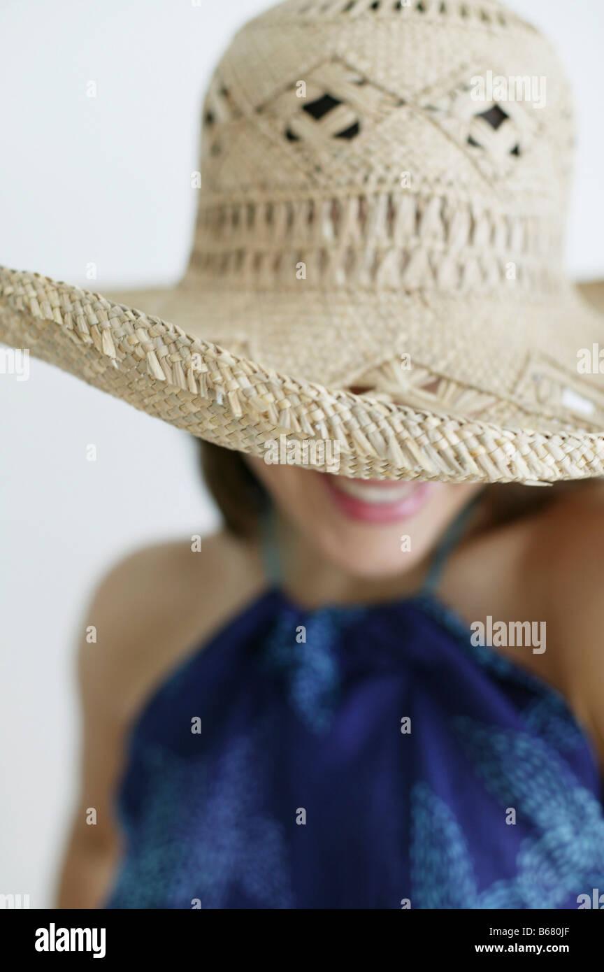 Junge Frau mit Hut, Wien, Österreich Stockbild