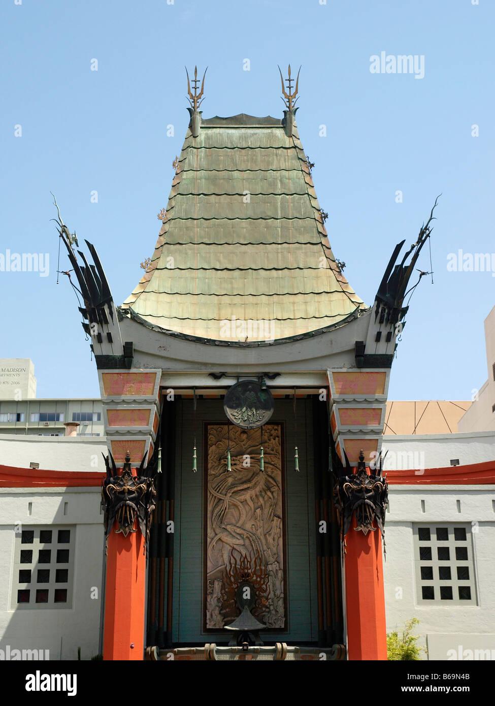 Detail der Graumans Chinese Theatre, Los Angeles, Kalifornien Stockbild