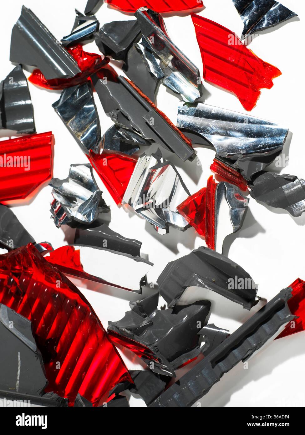 Autoteile Teile nach einem Unfall Kollision Stockbild