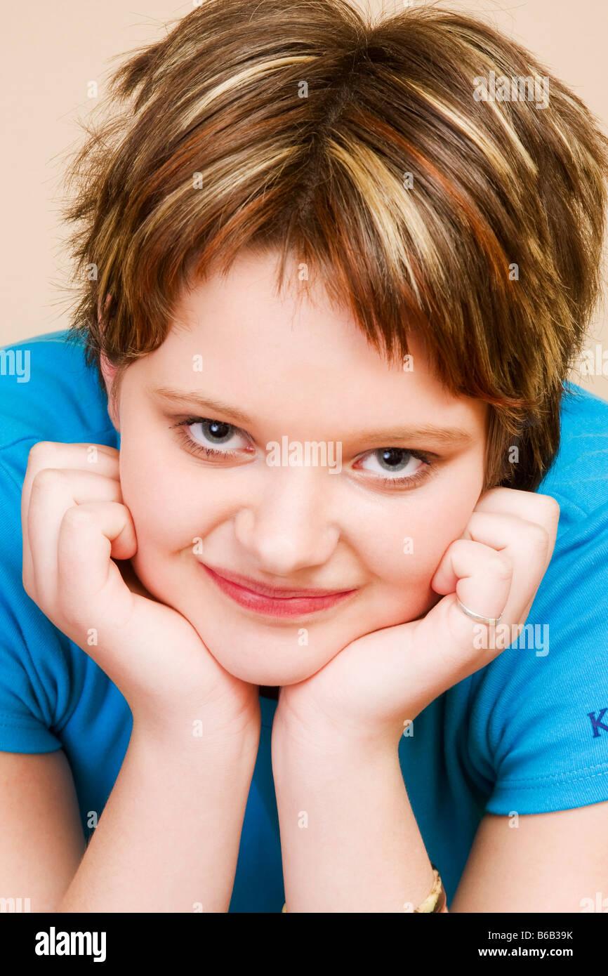 Porträt Von Schöne Mädchen 14 Jahre Stockfoto Bild 21142399 Alamy