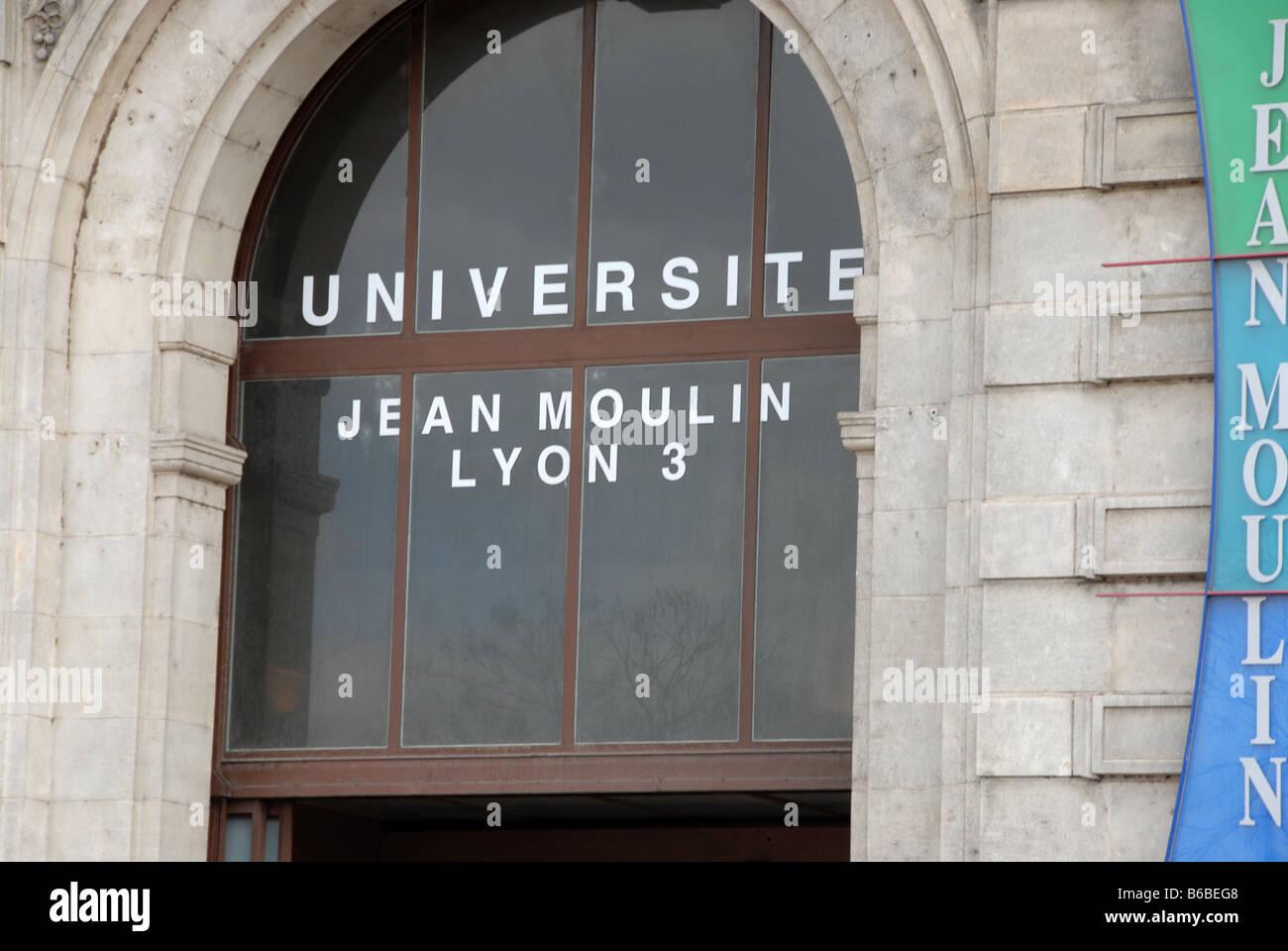Die Universität von Jean Moulin am Cours Albert Thomas in Lyon, Frankreich. Stockbild