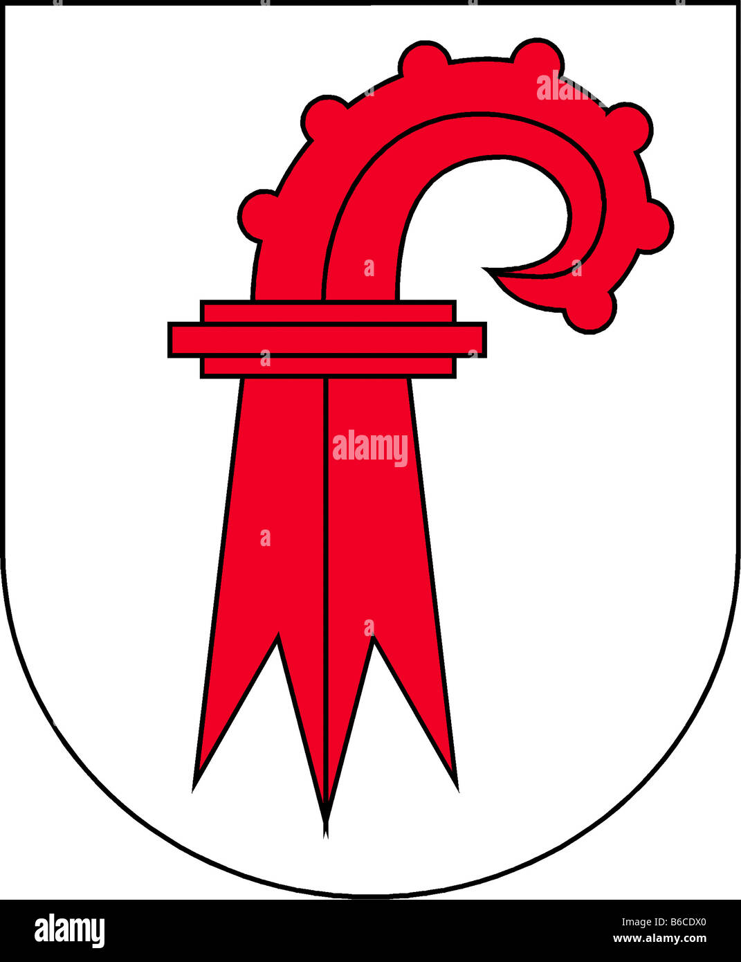 Abbildung Flagge des Kantons Basel land Schweiz Stockbild
