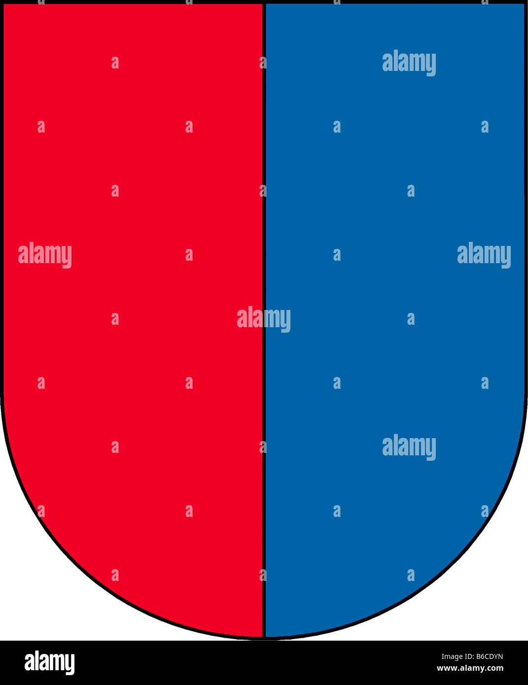 Abbildung Flagge des Kantons Tessin Schweiz Stockbild