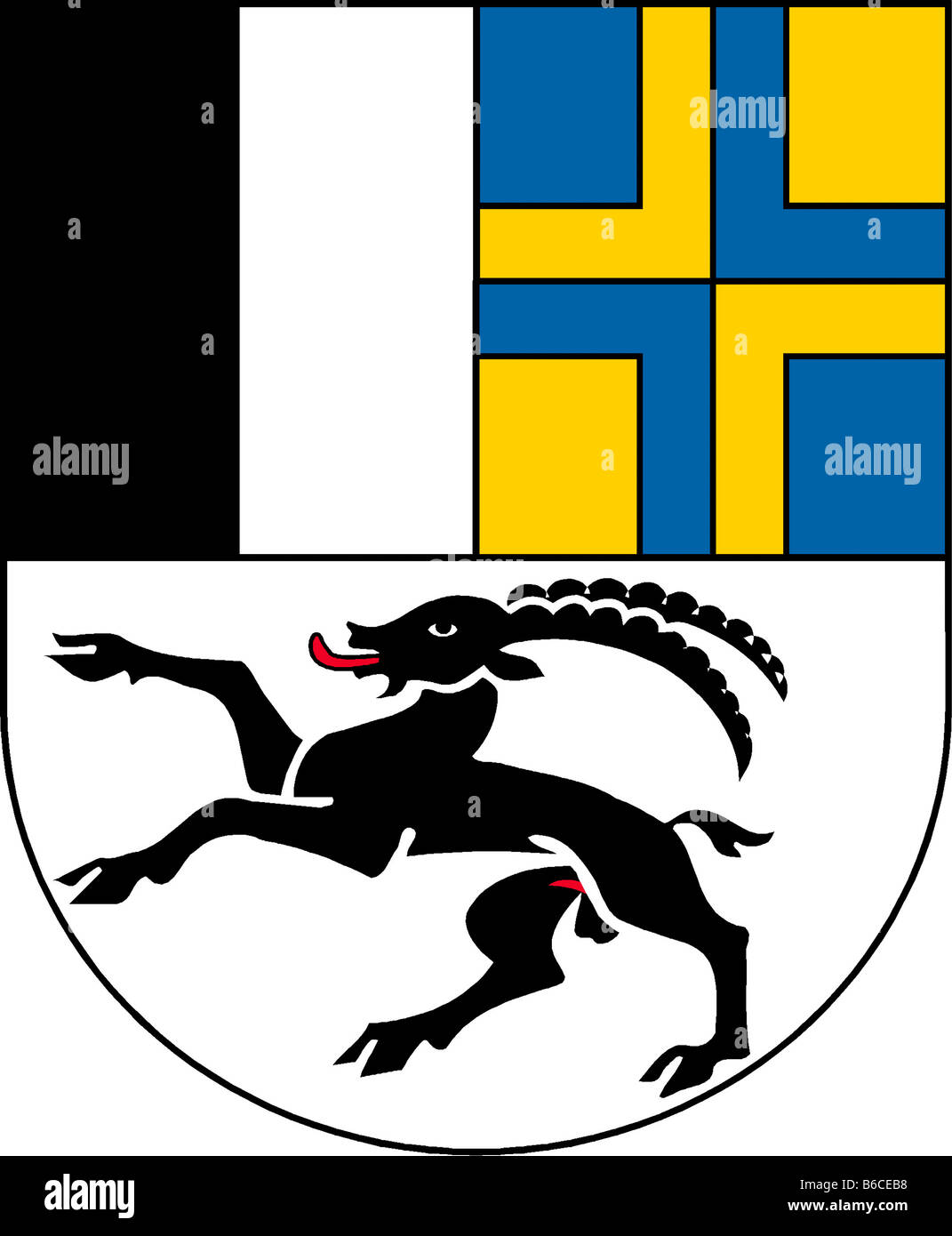 Abbildung Flagge des Kantons Graubünden Schweiz Stockbild