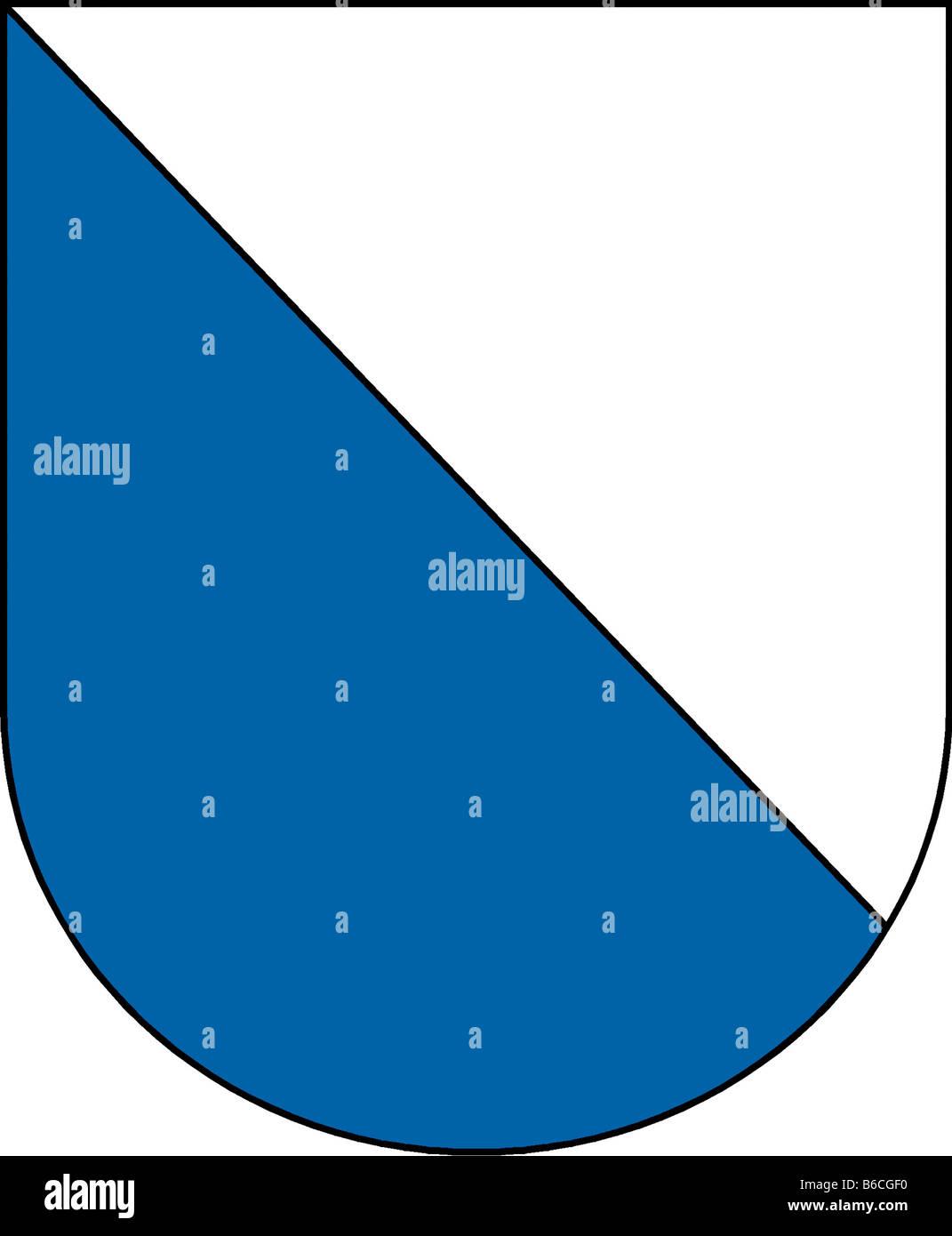 Abbildung Flagge des Kantons Zürich Stockbild