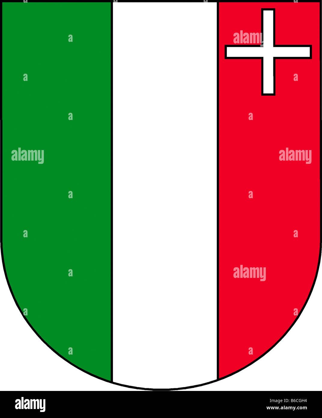 Abbildung Flagge des Kantons Neuenburg Schweiz Stockbild
