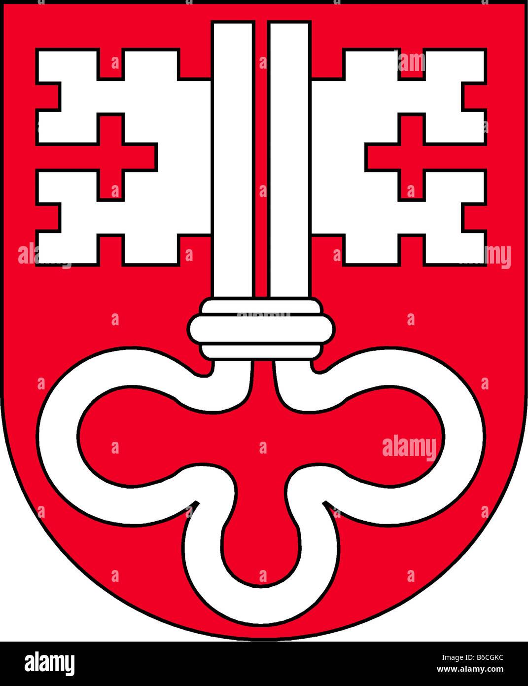 Abbildung Flagge des Kantons Nidwalden Schweiz Stockbild