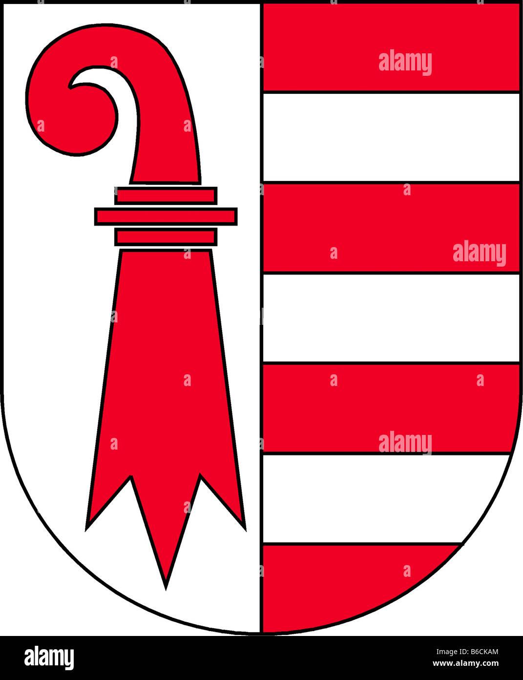Abbildung Fahne des Kantons Jura Schweiz Stockbild