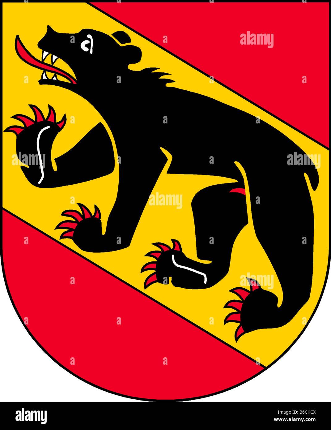 Abbildung Flagge des Kantons Bern Schweiz Stockbild