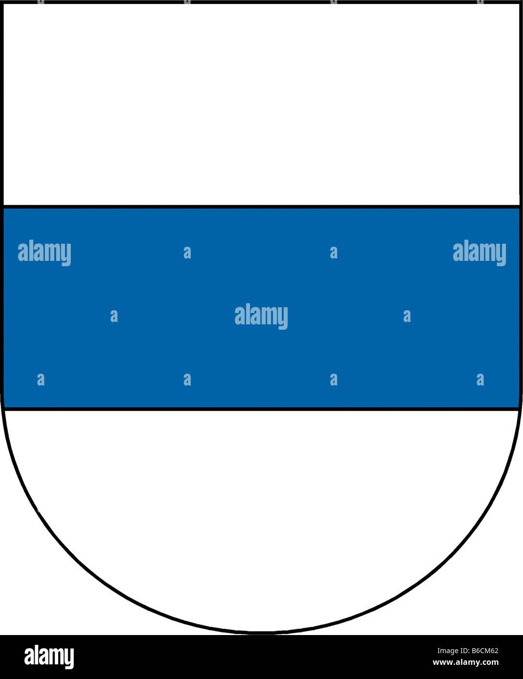 Abbildung Flagge des Kantons Zug Schweiz Stockbild