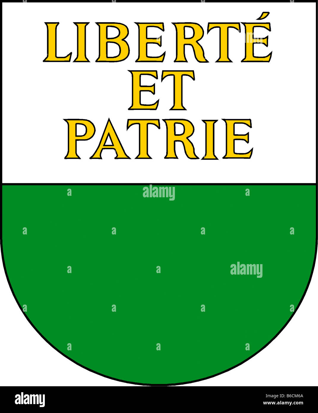 Abbildung Flagge des Kantons Waadt Schweiz Stockbild