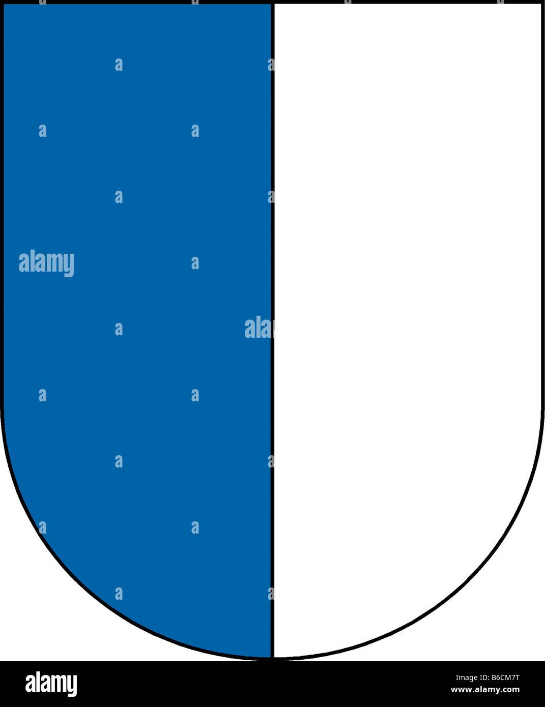 Abbildung Flagge des Kantons Luzern Stockbild