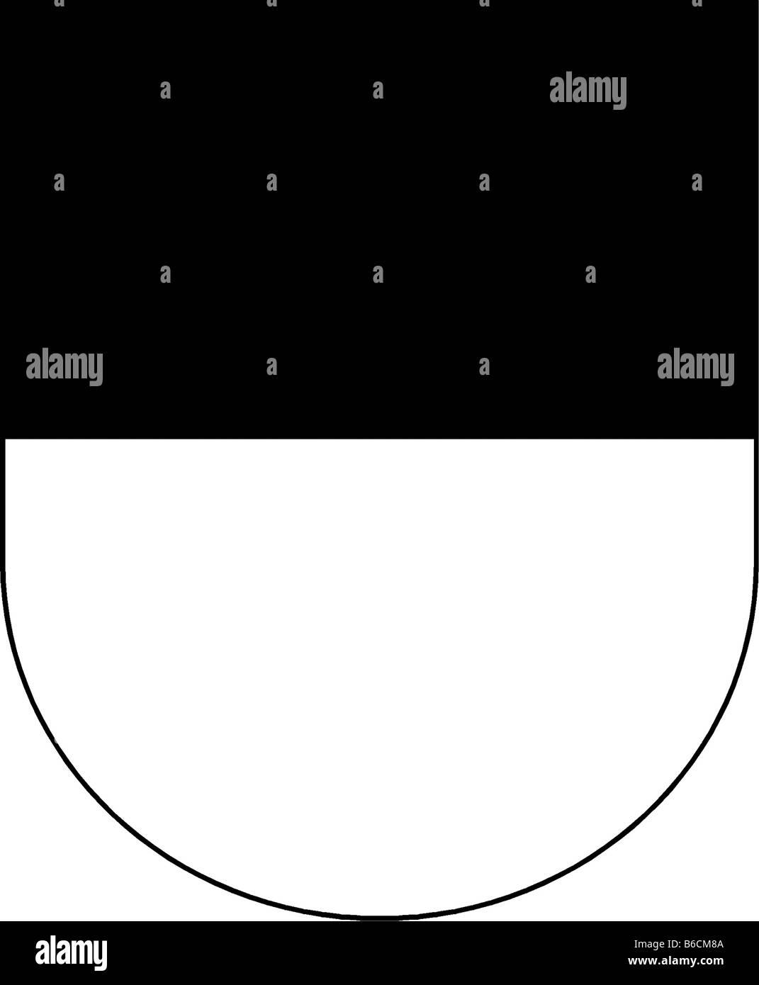 Abbildung Flagge des Kantons Freiburg Schweiz Stockbild