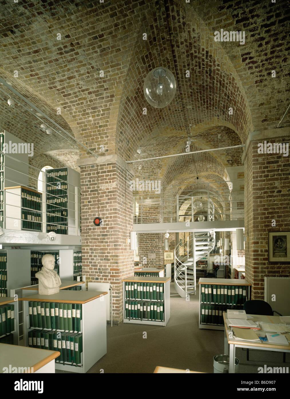 Archiv im Somerset House Stockbild
