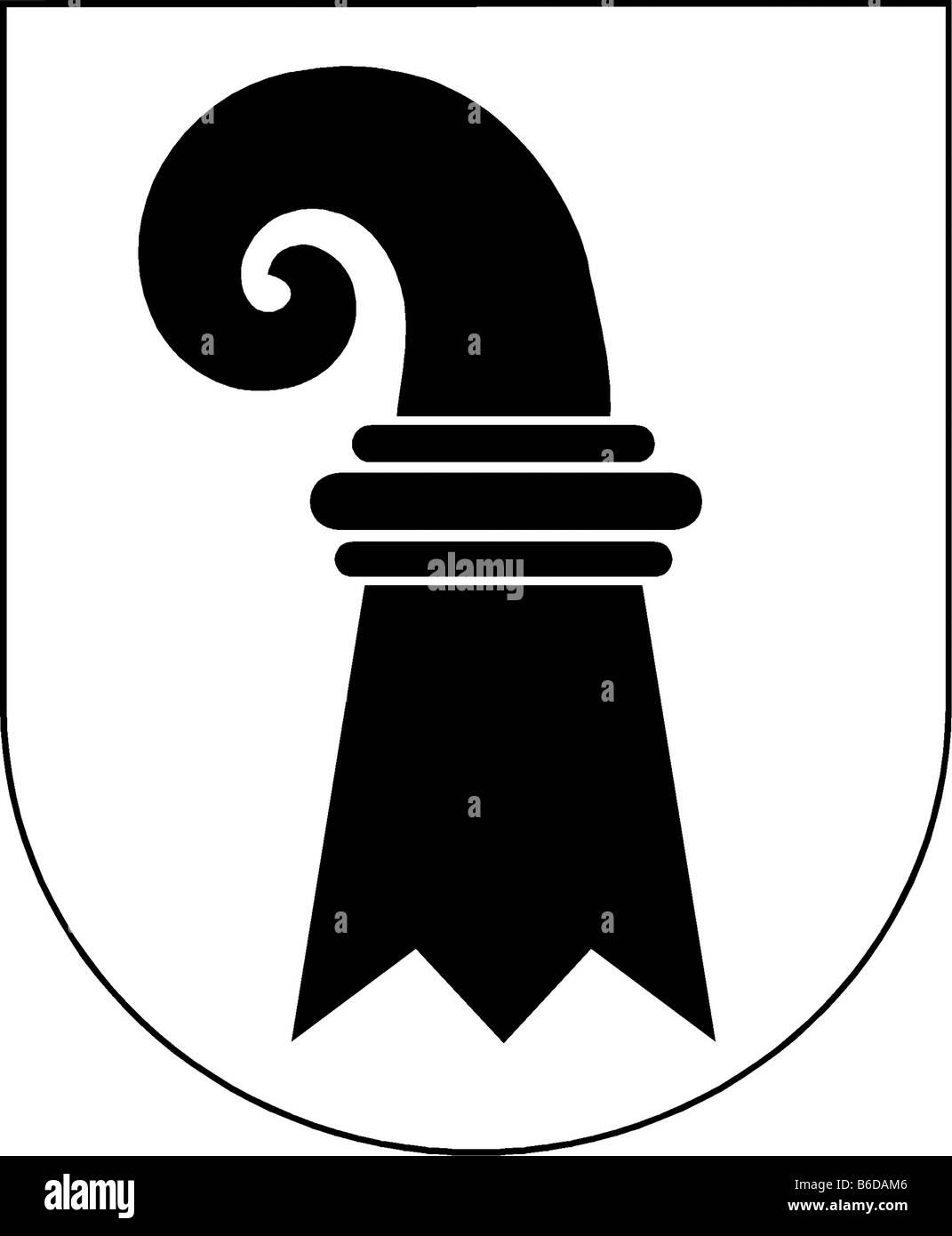 Abbildung Flagge des Kantons Basel Stadt Schweiz Stockbild