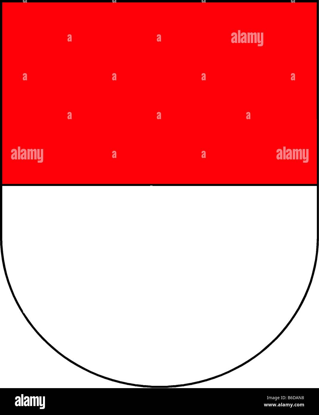 Abbildung Flagge des Kantons Solothurn Schweiz Stockbild