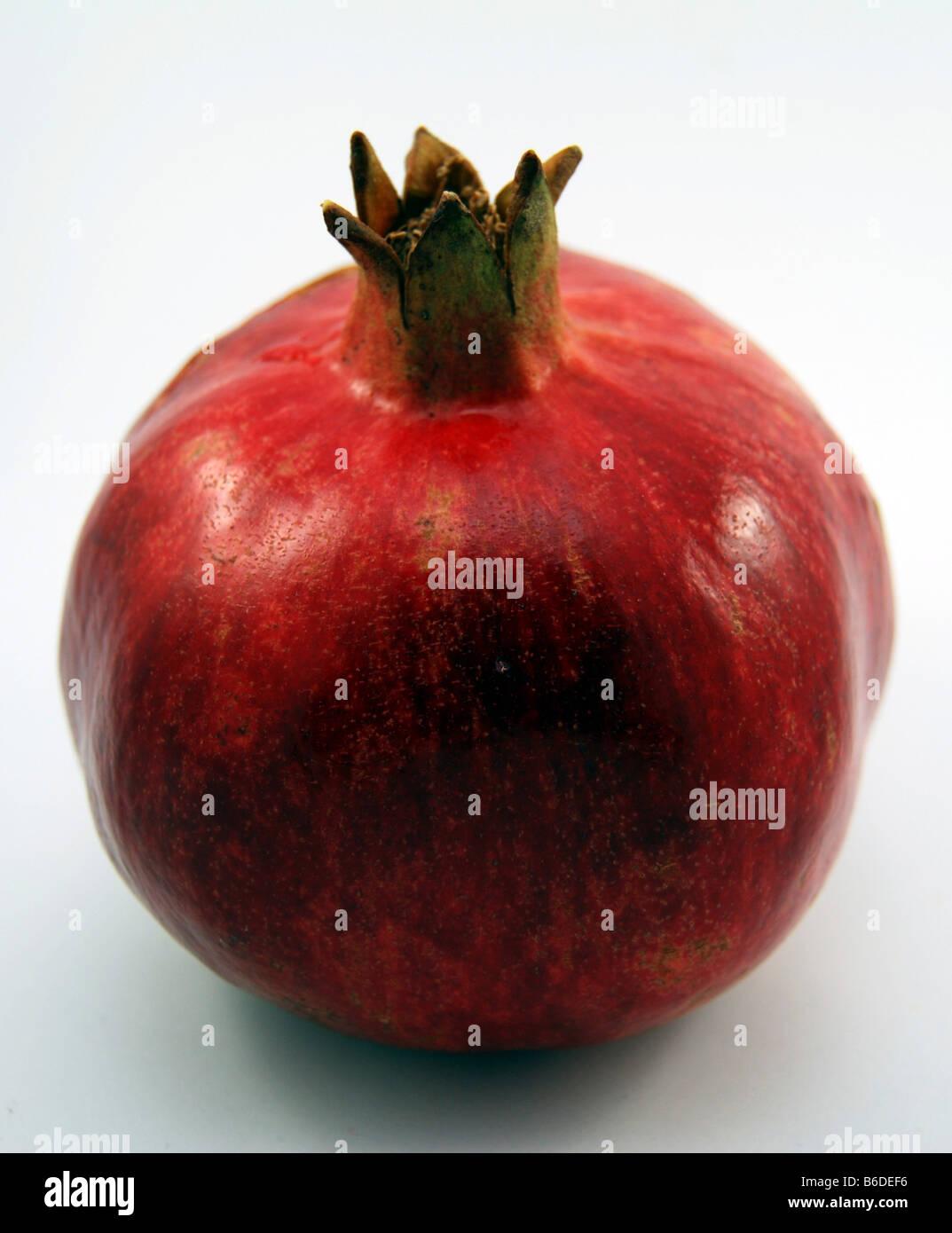 Rosch ha-Schana symbolische Essen Granatapfel Stockbild