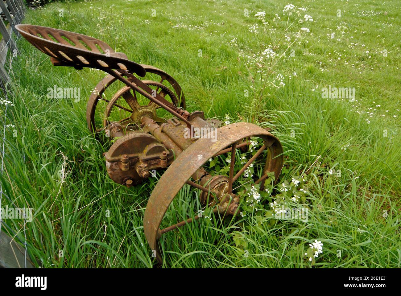 ALTE FARM MASCHINE Stockfoto