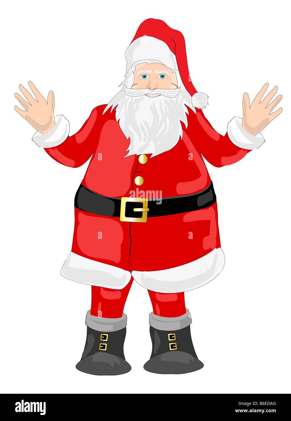 Beispiel für ein lächelnden Weihnachtsmann, ich wünsche Ihnen ein ...