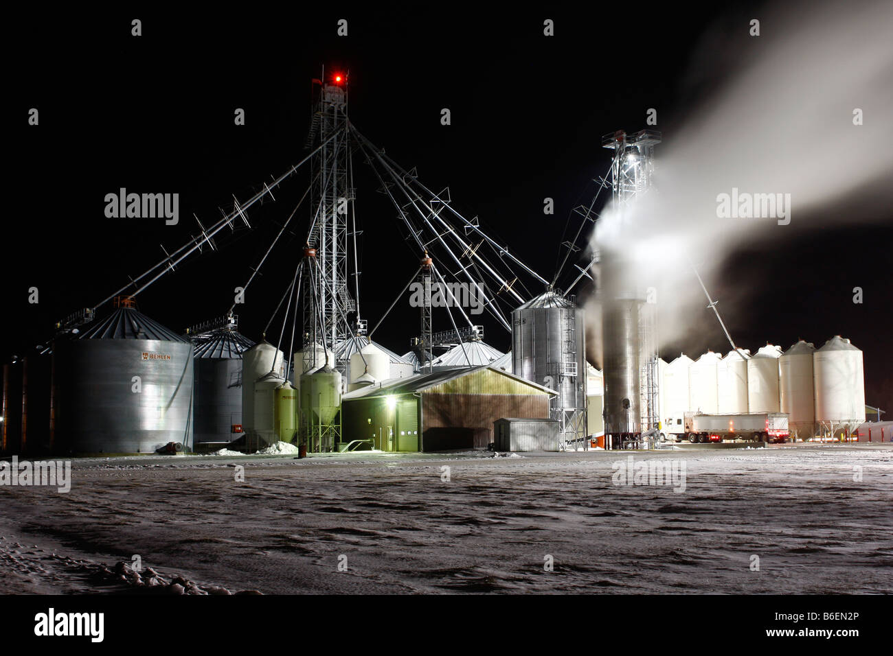 wärmeverlust von erdgas-wärme, trocknung von mais in einer kalten