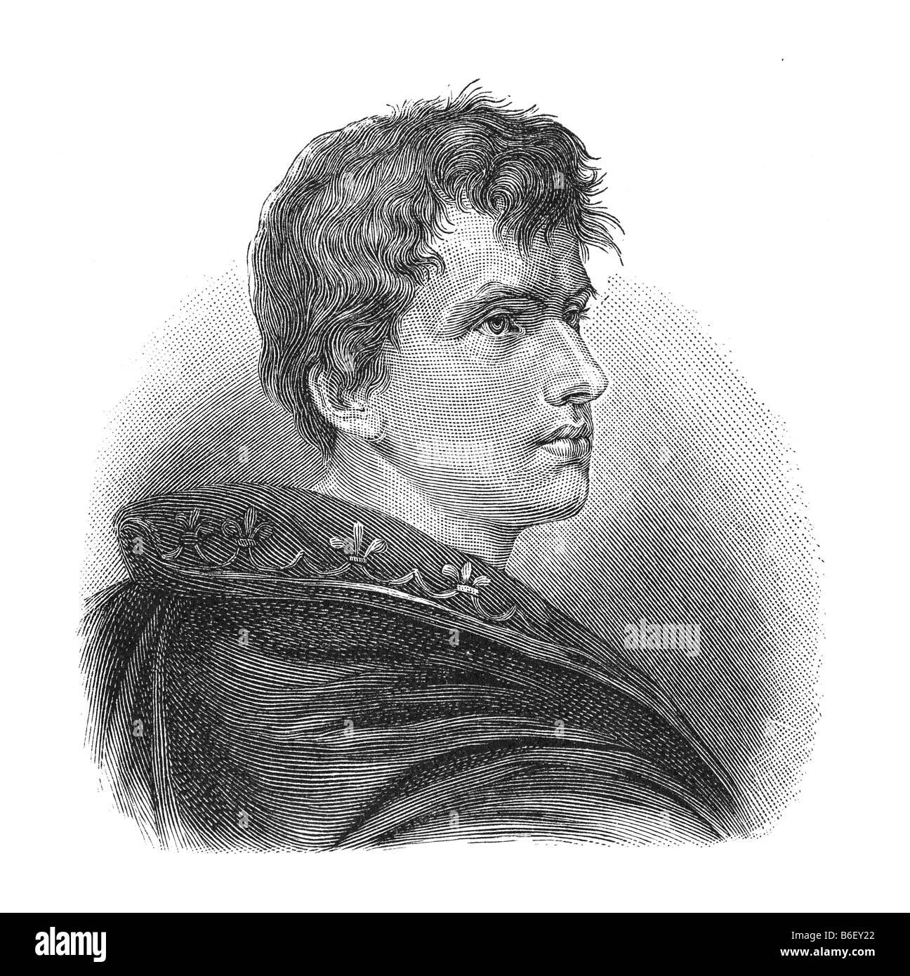 Carl Joachim Friedrich Ludwig von Arnim, 26. Januar 1781 Berlin - 21. Januar 1831 Schloss Wiepersdorf, Bereich Jüterbog Stockbild