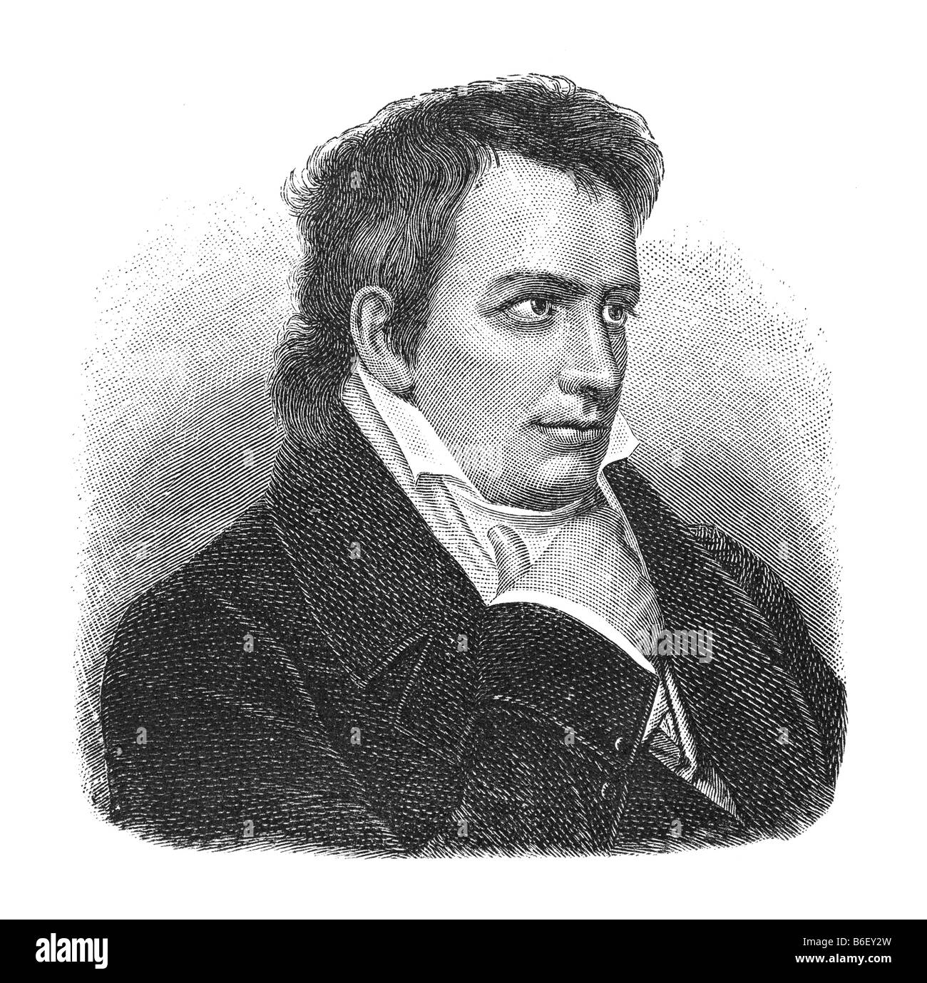 Johann Ludwig Tieck, 31. Mai 1773 Berlin - 28. April 1853 Berlin Stockbild