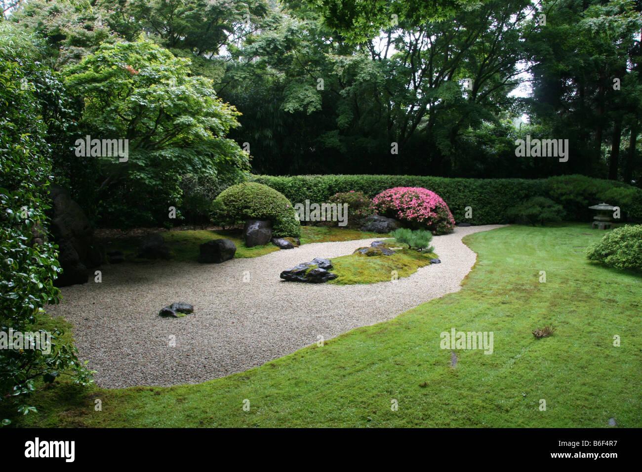 der zen garten in der japanese tea garden san francisco kalifornien
