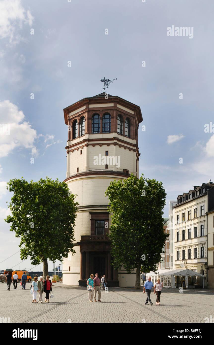 Schloßturm Tower Düsseldorf, Standort des maritimen Museums, Düsseldorf, Nordrhein-Westfalen, Deutschland, Stockbild