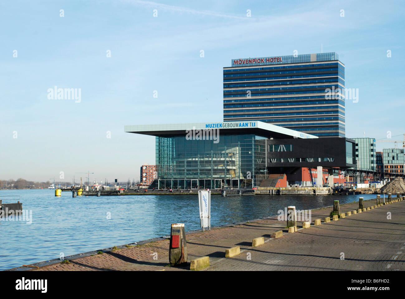 Muziek-Gebouw, Amsterdam, Niederlande Stockbild