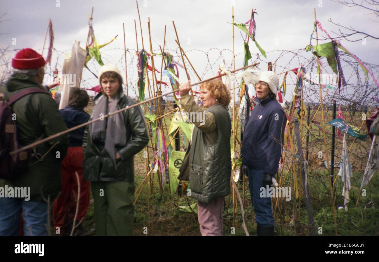 Greenham Common Friedenslager Stockbild